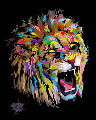 Poster featuring the digital art Roar by Anthony Mwangi