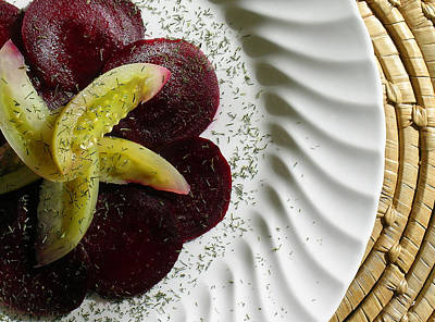 Roasted Beet Carpaccio With Picked Green Tomatoes Poster