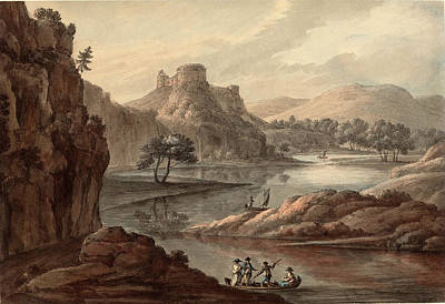 Robert Adam British, 1728 - 1792, River Landscape Poster by Quint Lox