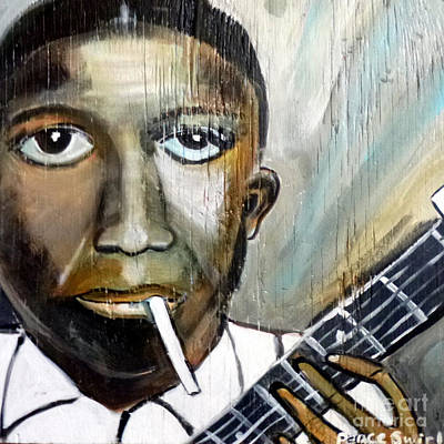 Robert Johnson King Of The Delta Blues Poster by Debora PeaceSwirl D'Angelo