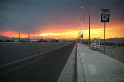 Robert Melvin - Fine Art Photography - Highway 160 At Dawn Poster