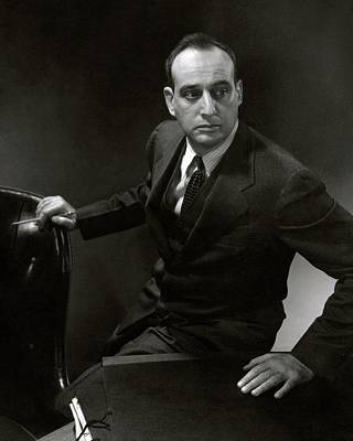 Robert Moses At A Desk Poster by Edward Steichen