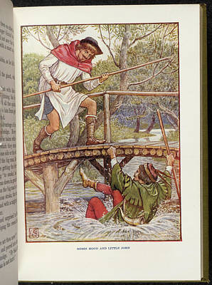 Robin Hood And Little John Poster by British Library