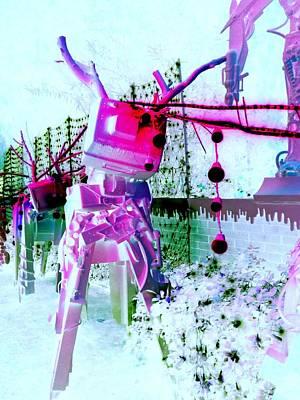 Robo Reindeer Poster by Randall Weidner
