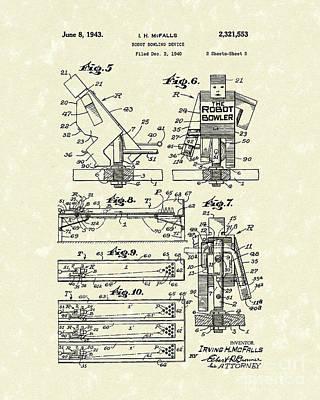 Robot Device 1943 Patent Art Poster