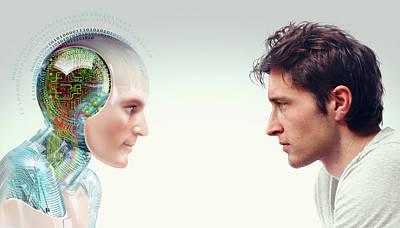 Robot-human Evolution Poster by Smetek