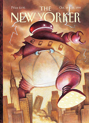 Robotic Baby New Year Poster by Carter Goodrich