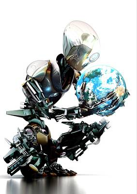 Robotic World Poster by Animate4.com/science Photo Libary