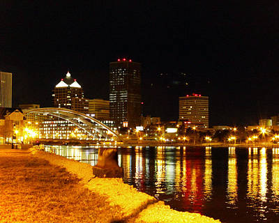 Rochester At Night Poster by Tim Buisman