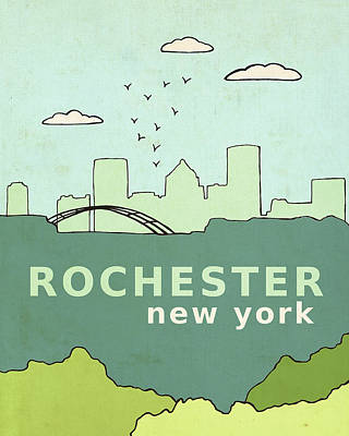Rochester Poster by Lisa Barbero
