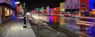 Rochester Michigan Christmas Lights Poster