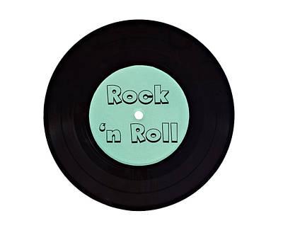 Vinyl Record Rock N Roll Poster by Vizual Studio