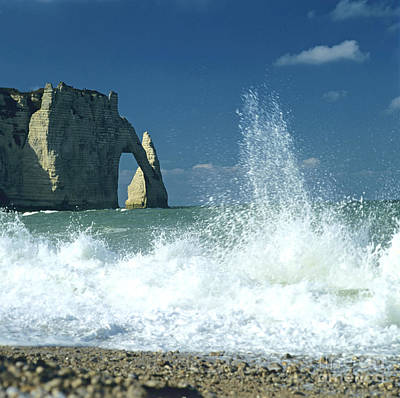 Rock Arch. Etretat. Seine-maritime. Normandy. France. Europe Poster by Bernard Jaubert