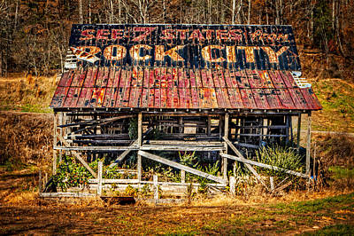 Rock City Poster by Debra and Dave Vanderlaan