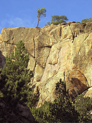 Rock Cliff Landscape Colorado Poster by Ann Powell