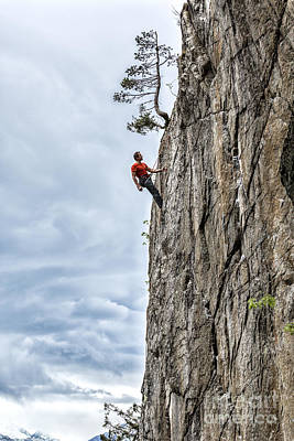 Poster featuring the photograph Rock Climber by Carsten Reisinger