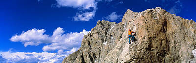 Rock Climber Grand Teton National Park Poster by Panoramic Images