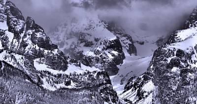 Grand Teton Mountains In Winter Poster by Dan Sproul
