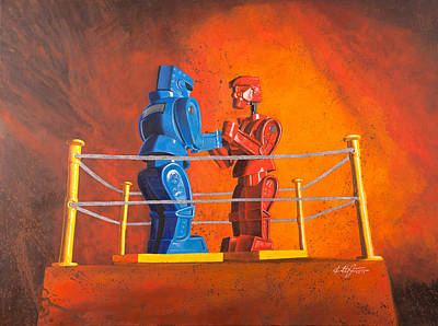 Rock 'em Sock 'em Robots Poster by Karl Melton