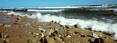 Rock Formations At The Coast, Montauk Poster