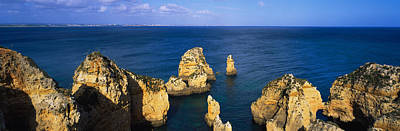 Rock Formations In The Sea, Algarve Poster