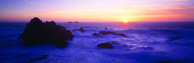 Rock Formations On Coast At Sunset Poster by Panoramic Images