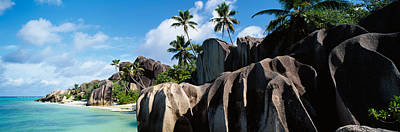 Rock Formations On The Beach, Anse Poster