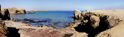 Rock Formations On The Beach, Marcona Poster by Panoramic Images