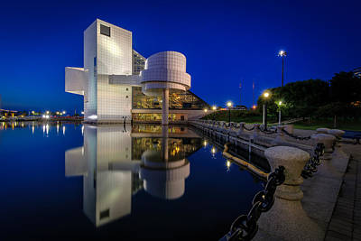 Rock Hall At Blue Hour Poster
