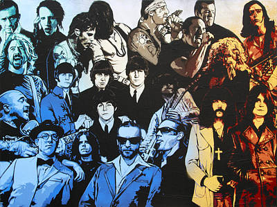 Rock Triptych - Panel B Poster