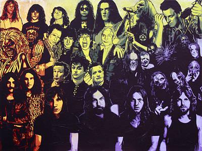 Rock Triptych - Panel C Poster by Bobby Zeik