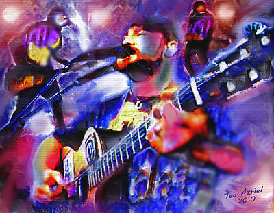 Poster featuring the painting Rocker by Ted Azriel