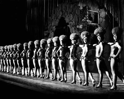Rockettes Line Up On Stage Poster by Retro Images Archive