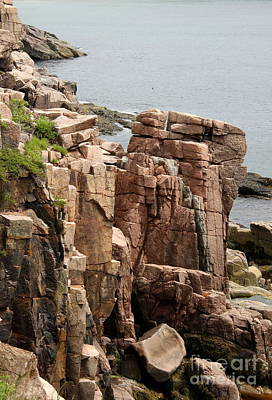 Rockformation Mount Desert Coast Poster by Christiane Schulze Art And Photography