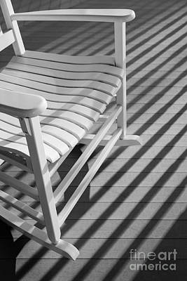 Rocking Chair On The Porch Poster by Diane Diederich