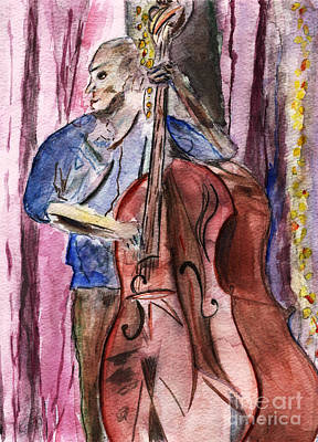 Dancn' Double Bass  Poster by Elizabeth Briggs