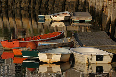 Rockport Dinghies Poster by Juergen Roth