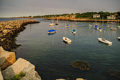 Poster featuring the photograph Rockport Gold by Mark Myhaver
