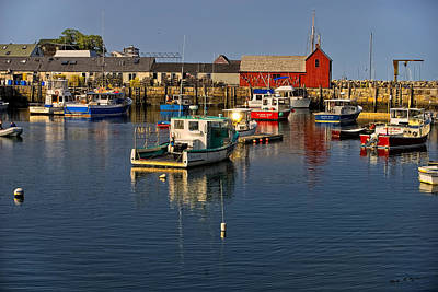 Poster featuring the photograph Rockport Harbor No.1 by Mark Myhaver
