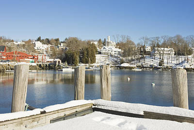 Rockport In Winter On The Coast Of Maine Poster by Keith Webber Jr