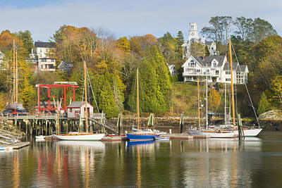 Rockport On The Coast Of Maine Poster by Keith Webber Jr
