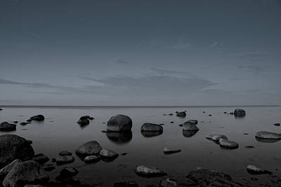 Poster featuring the photograph Rocks At Midnight by Alex Weinstein