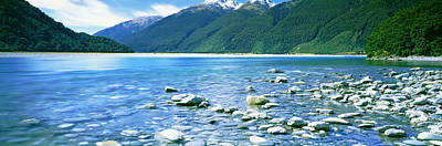 Rocks In A Lake, Mackenzie Country Poster