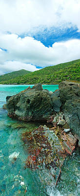 Rocks In The Sea, Jumbie Bay, St John Poster by Panoramic Images