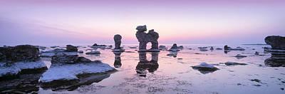 Rocks On The Beach, Faro, Gotland Poster