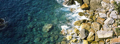 Rocks On The Coast, Corniglia, Cinque Poster by Panoramic Images