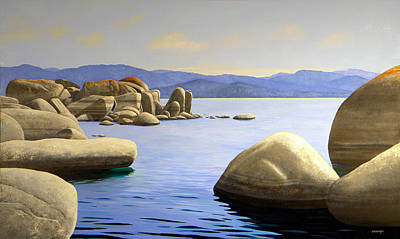 Rocky Cove On Lake Tahoe Poster