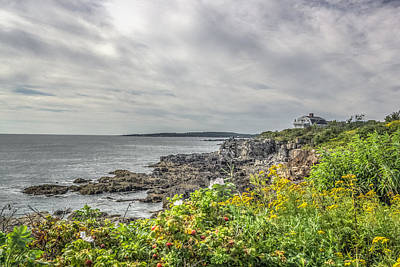 Poster featuring the photograph Rocky Maine Shoreline by Jane Luxton