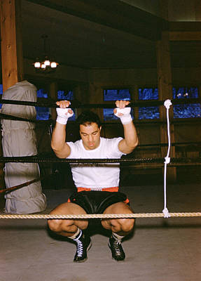 Rocky Marciano Stretching Poster by Retro Images Archive