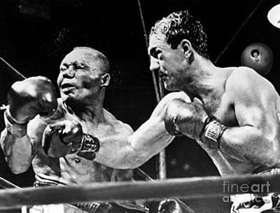 Rocky Marciano Vs Jersey Joe Walcott Poster by Anthony Morretta